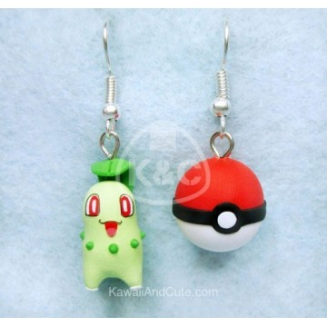 Chikorita and Pokeball