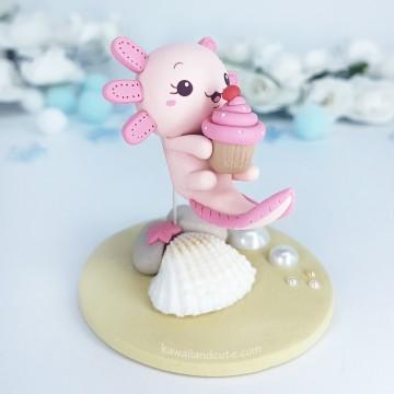 Axolotl love Cupcake