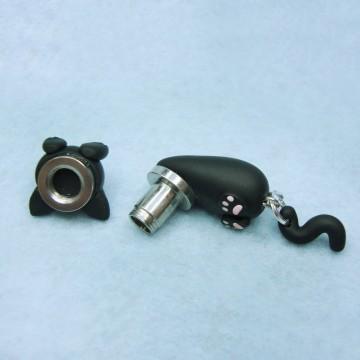 Black Cat Stretched ears 1 unit