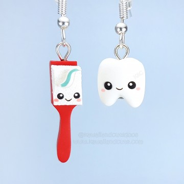 toothbrush + tooth Kawaii