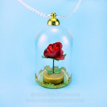 Rose with glass dome