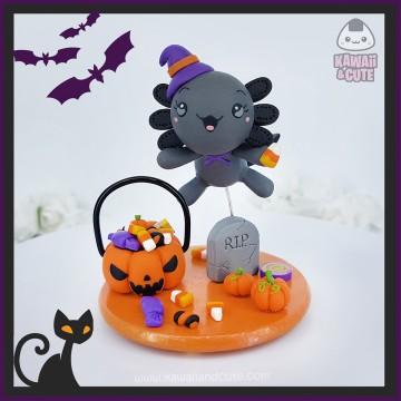 Dark Axolotl Trick or Treat figure