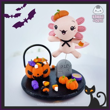 Pink Axolotl Trick or Treat figure